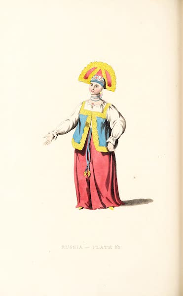 Picturesque Representations of the Russians - A Woman of Kalouga, in her Summer dress (1814)