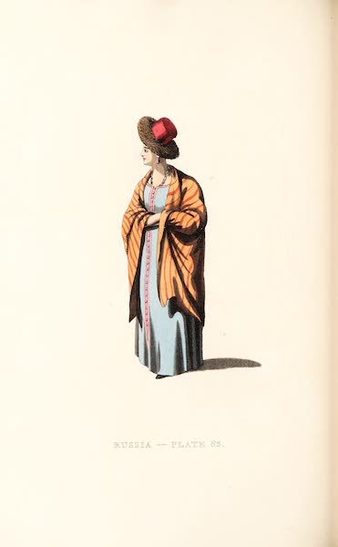 Picturesque Representations of the Russians - A Married Woman of Waldai (1814)