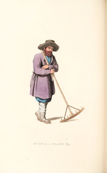Picturesque Representations of the Russians - A Russian Peasant (1814)
