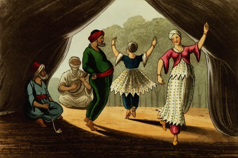 Picturesque Scenery in the Holy Land and Syria - A Dance at Genin (1823)