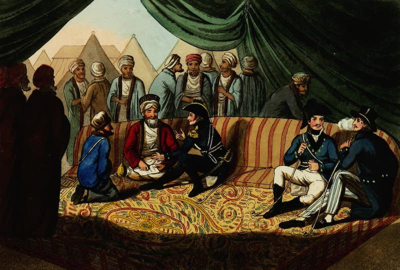 Picturesque Scenery in the Holy Land and Syria - The Grand Vizier's Tent (1823)
