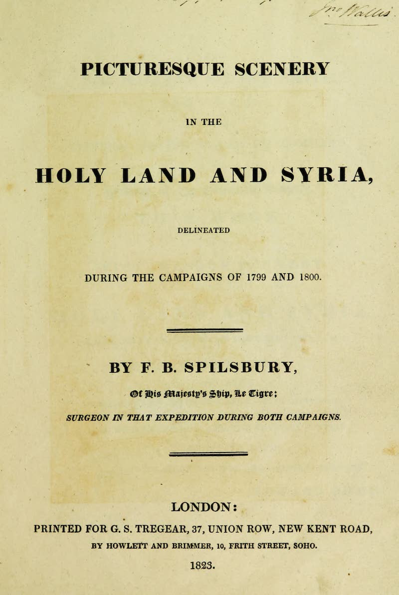 Picturesque Scenery in the Holy Land and Syria - Title Page (1823)