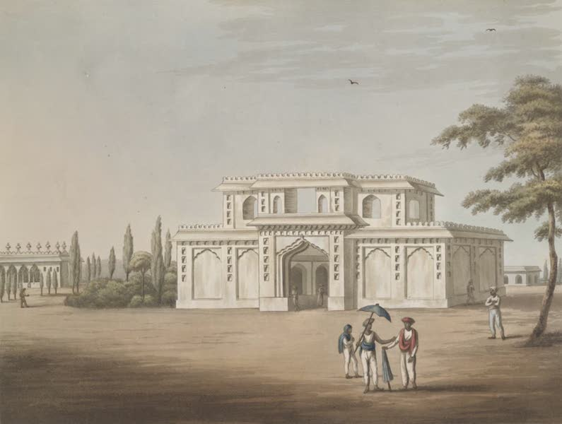 Picturesque Scenery in the Kingdom of Mysore - Music Gallery at the Entrance of the Mosque (1805)