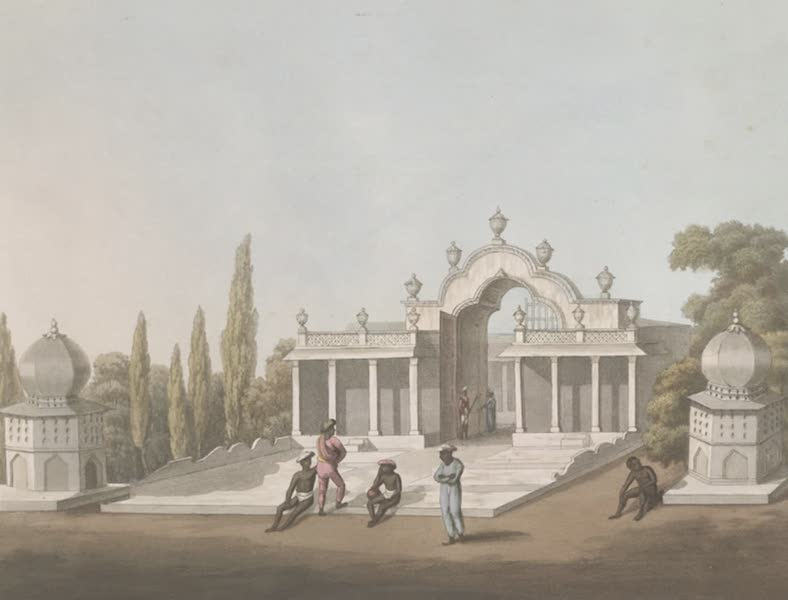 Picturesque Scenery in the Kingdom of Mysore - Garden Gate, Laul Baugh, Seringapatam (1805)