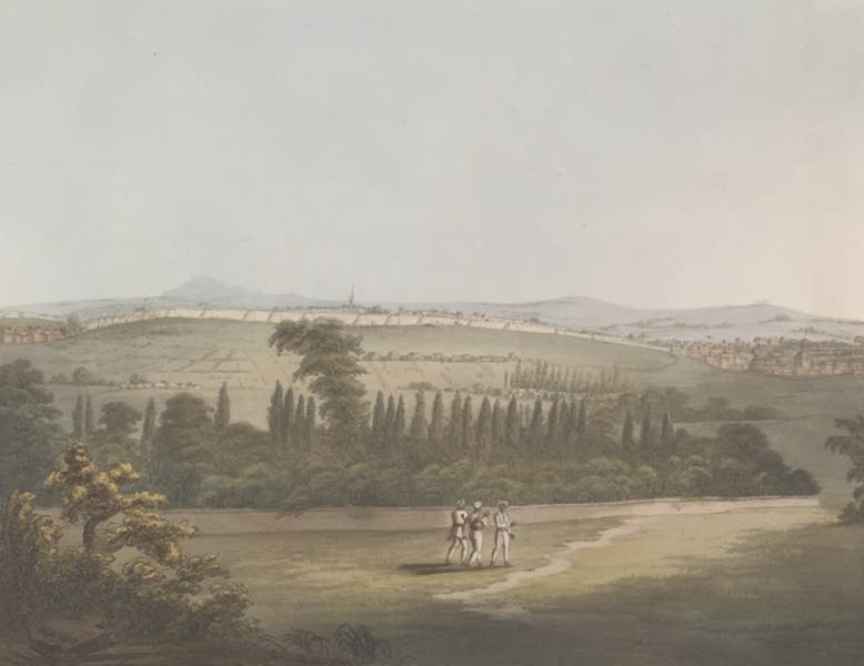 Picturesque Scenery in the Kingdom of Mysore - East View of Bangalore, with the Cypress Garden, from a Pagoda (1805)