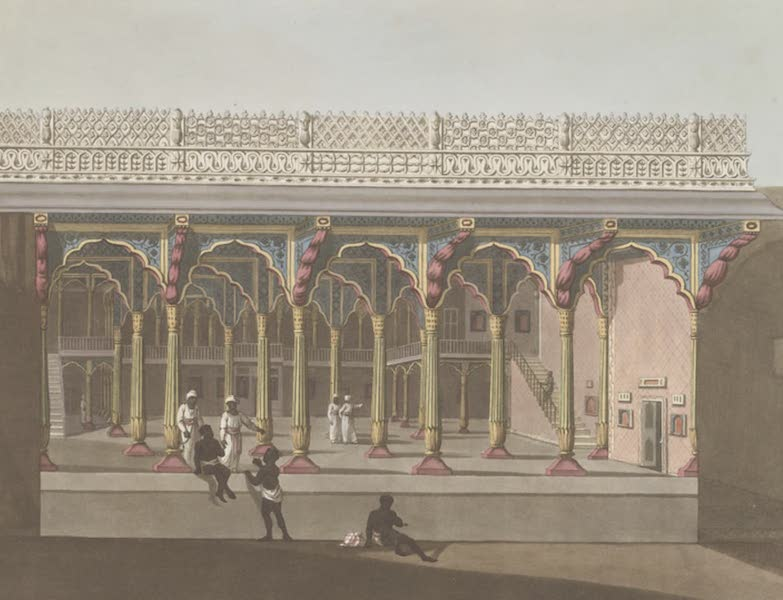 Picturesque Scenery in the Kingdom of Mysore - West Front of Tippoo's Palace, Bangalore (1805)