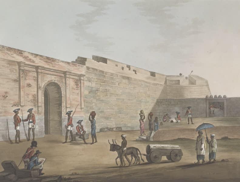 Picturesque Scenery in the Kingdom of Mysore - The Mysore Gate at Bangalore (1805)