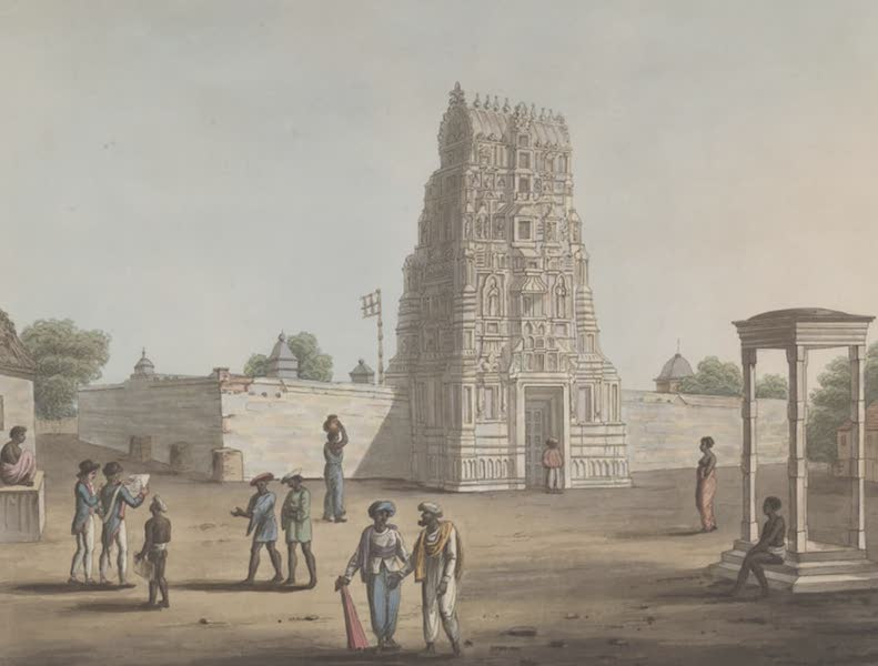 Picturesque Scenery in the Kingdom of Mysore - A Pagoda at Struppermador (1805)