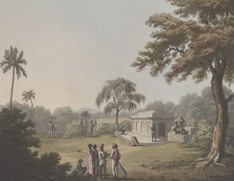 Picturesque Scenery in the Kingdom of Mysore - A View on the Road at Struppermador (1805)