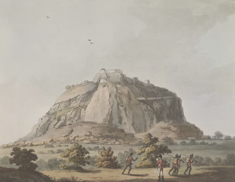 Picturesque Scenery in the Kingdom of Mysore - East View of Kistnaghurry (1805)