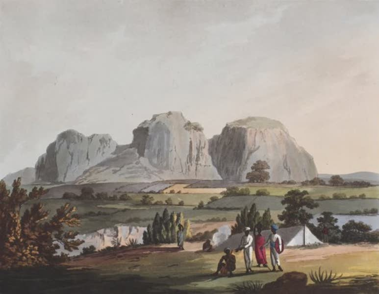Picturesque Scenery in the Kingdom of Mysore - East View of Shole Ghurry, from the Camp at Arnee (1805)