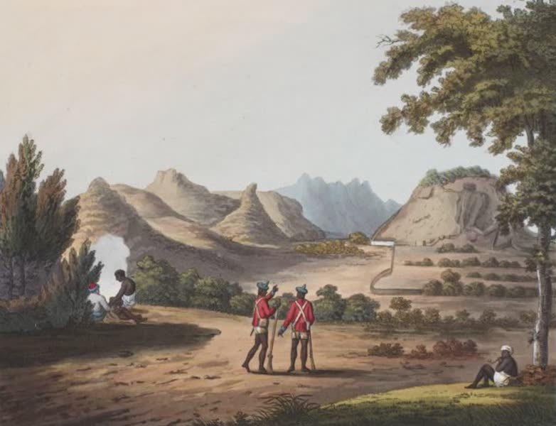 Picturesque Scenery in the Kingdom of Mysore - Ourry Durgam, the Head of the Pass into the Barrah Mauhl. (1805)