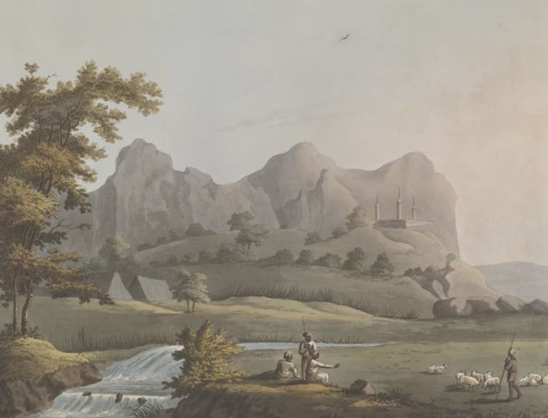 Picturesque Scenery in the Kingdom of Mysore - A View in the Barrah Mauhl (1805)