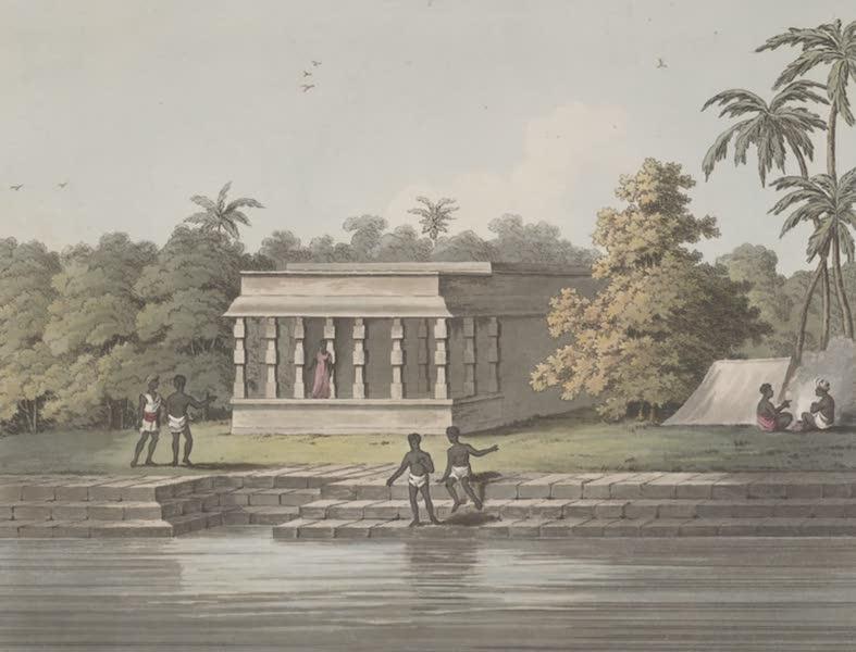 Picturesque Scenery in the Kingdom of Mysore - Nabob's Choultry & Tank, Conjeveram (1805)