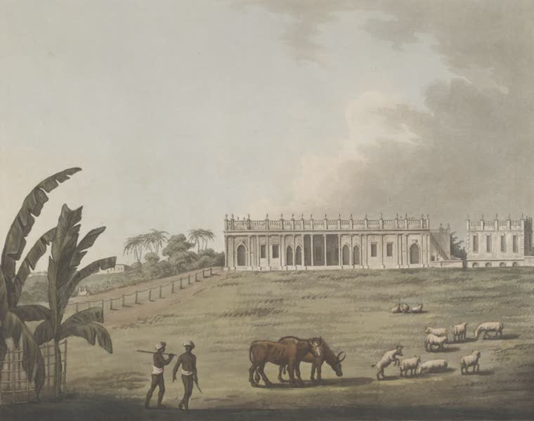 Picturesque Scenery in the Kingdom of Mysore - A House at Bankipore, the Residence of William Hunter Esq. (1805)