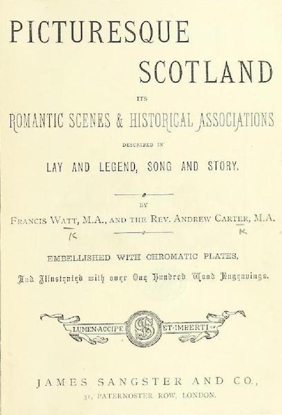 Picturesque Scotland - Title Page (1887)