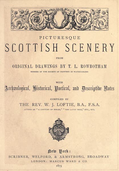 Picturesque Scottish Scenery - Title Page (1875)