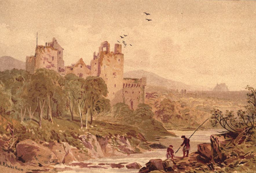 Picturesque Scottish Scenery - Doune Castle - Stirling in the Distance (1875)