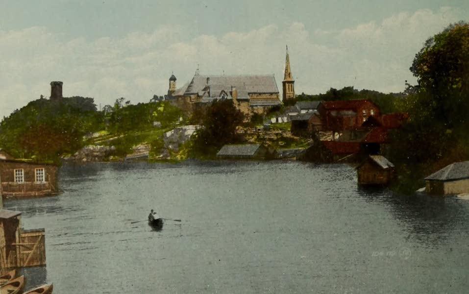 Picturesque Souvenir of Gananoque and Thousand Islands - Mouth of the Gananoque River (1910)