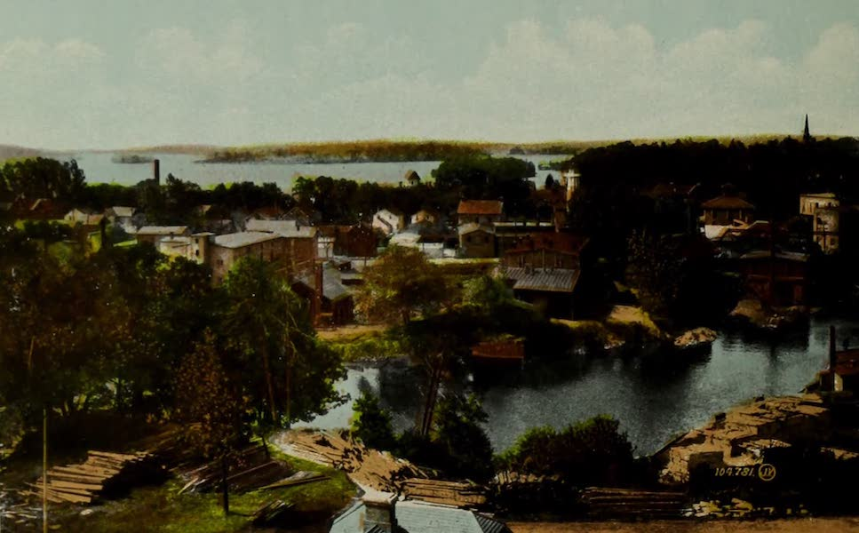 Picturesque Souvenir of Gananoque and Thousand Islands - Gananoque from Clock Tower (1910)