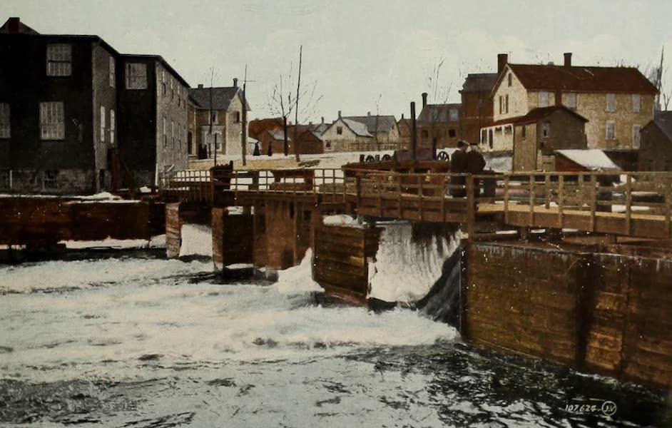 Picturesque Souvenir of Gananoque and Thousand Islands - Mill Dam (1910)