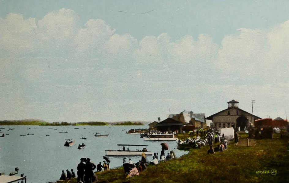 Picturesque Souvenir of Gananoque and Thousand Islands - Station and Dock (1910)