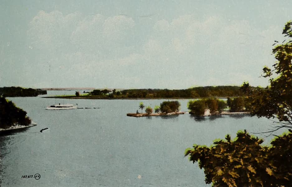 Picturesque Souvenir of Gananoque and Thousand Islands - View from the Bluff, Thousand Islands (1910)