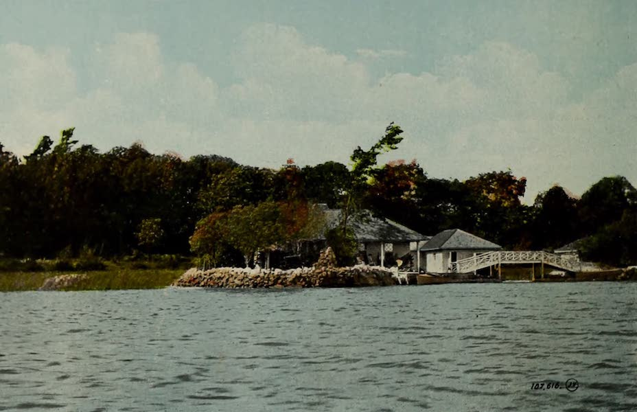 Picturesque Souvenir of Gananoque and Thousand Islands - The Sisters, Thousand Islands (1910)