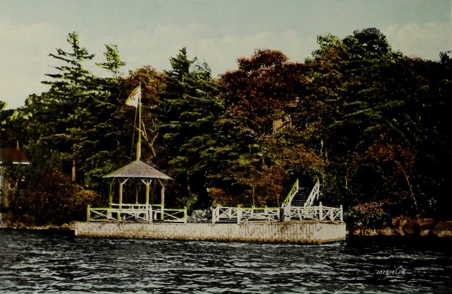 Picturesque Souvenir of Gananoque and Thousand Islands - Camp Iroquois, Thousand Islands (1910)