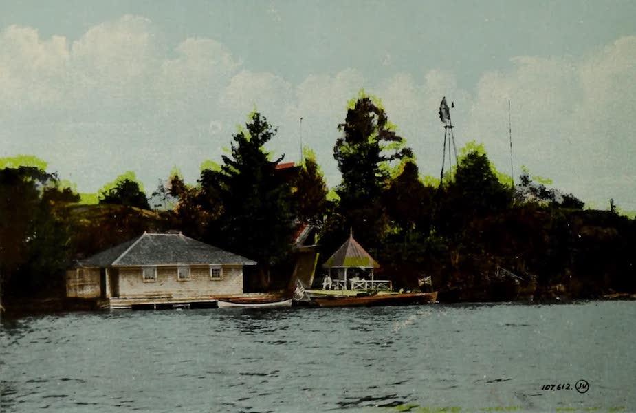 Picturesque Souvenir of Gananoque and Thousand Islands - Underwood's Cottage, Thousand Islands (1910)