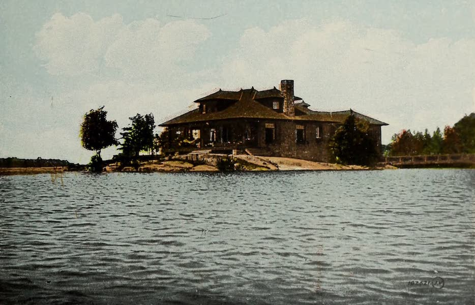 Picturesque Souvenir of Gananoque and Thousand Islands - Prof. Nichol's Cottage, Thousand Islands (1910)