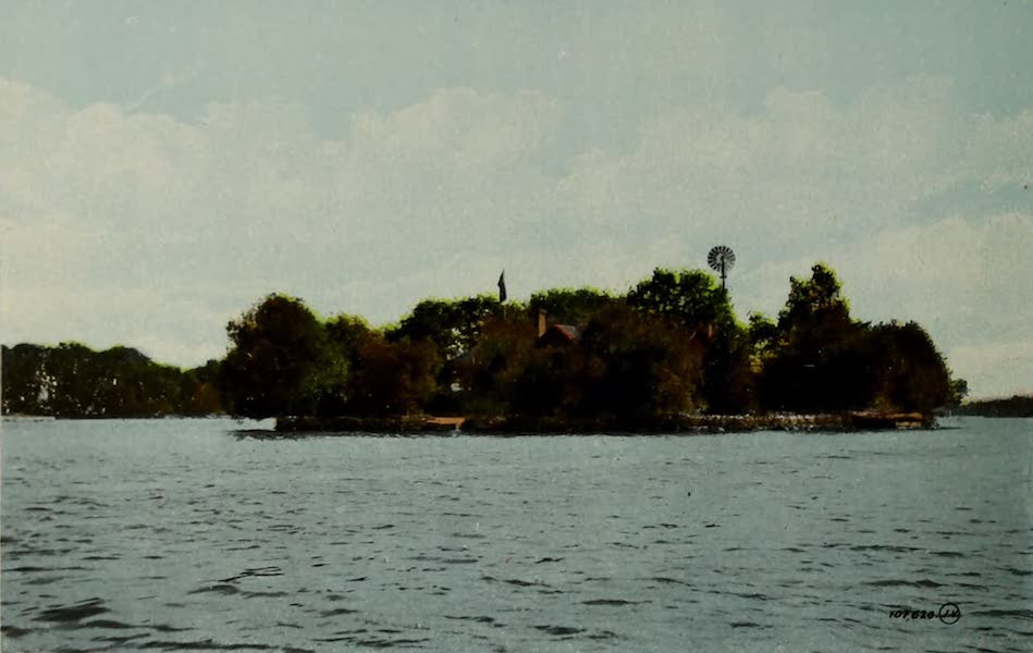 Picturesque Souvenir of Gananoque and Thousand Islands - The Willows, Thousand Islands (1910)