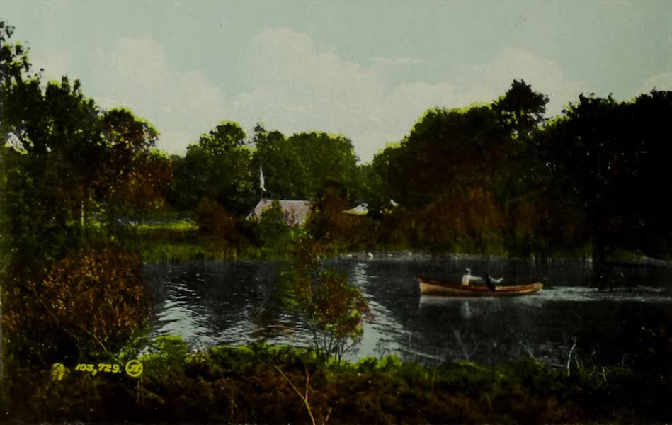 Picturesque Souvenir of Gananoque and Thousand Islands - Sugar Island, the Summer Home of the American Canoe Association, near Gananoque (1910)