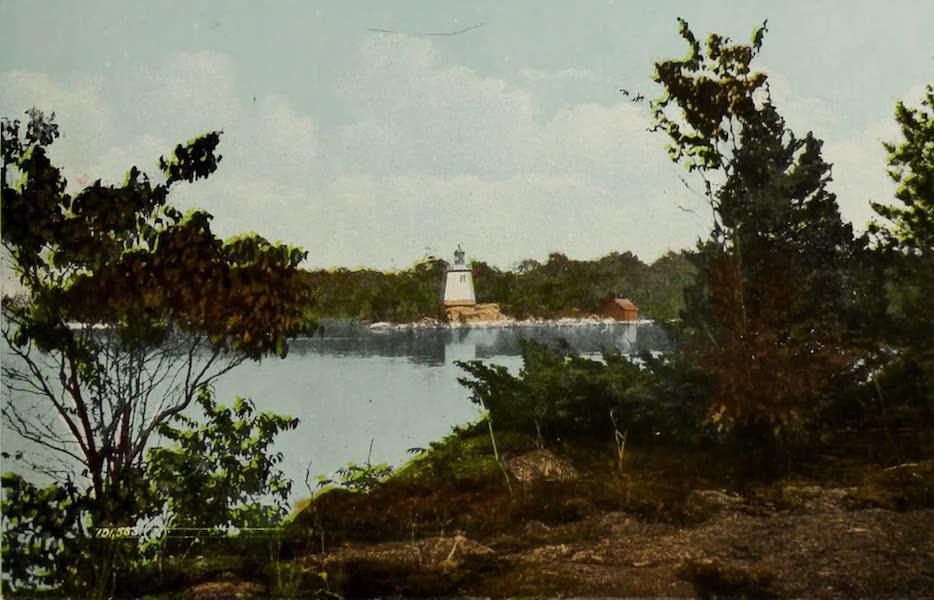 Picturesque Souvenir of Gananoque and Thousand Islands - The Narrows Light, Thousand Islands (1910)