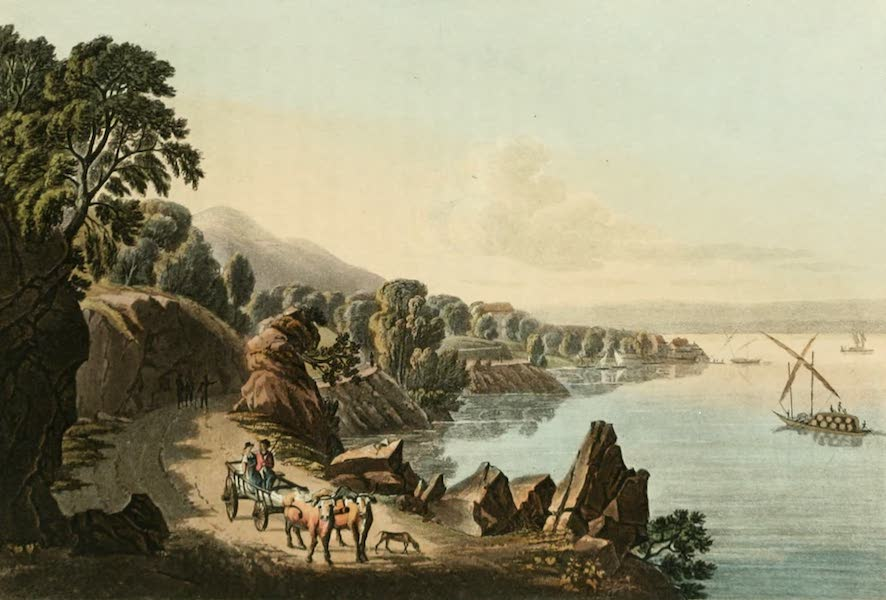 Picturesque Tour from Geneva to Milan - View of the Banks of the Lake of Geneva near St. Gingouph (1820)