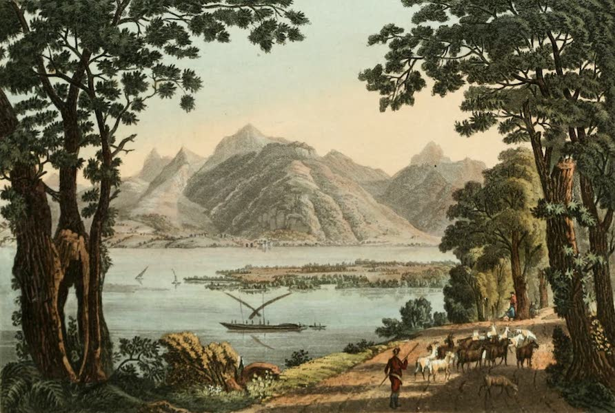Picturesque Tour from Geneva to Milan - View of the Extremity of the Lake of Geneva (1820)