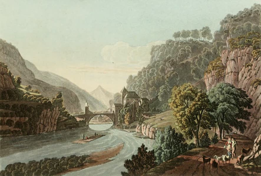 Picturesque Tour from Geneva to Milan - View of the Bridge of St. Maurice (1820)