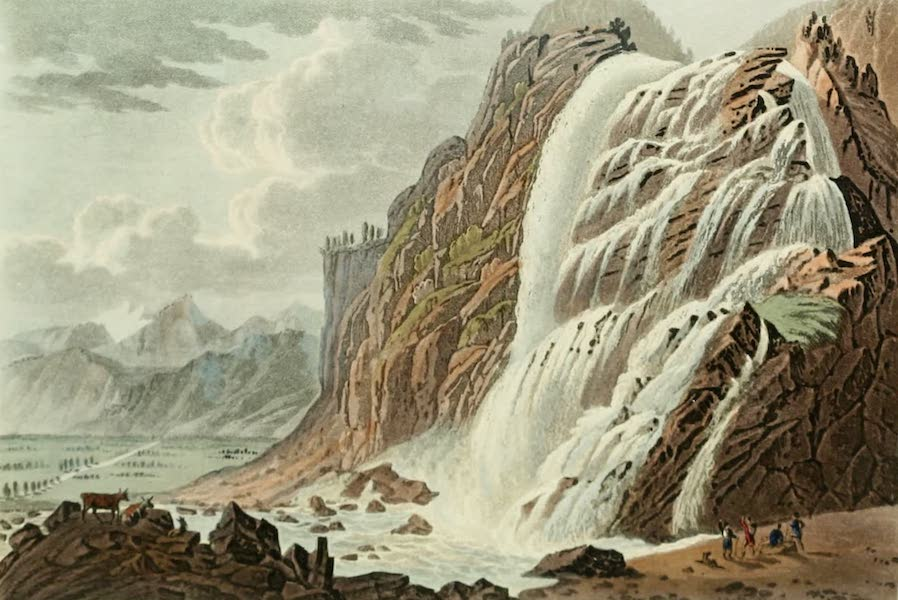 Picturesque Tour from Geneva to Milan - Waterfall of Pissvache (1820)