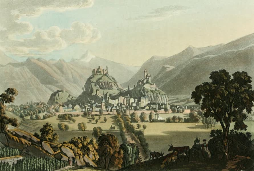 Picturesque Tour from Geneva to Milan - West View of Sion (1820)