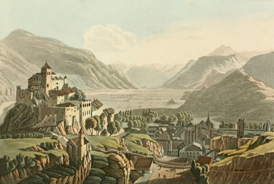 Picturesque Tour from Geneva to Milan - East View of Sion (1820)