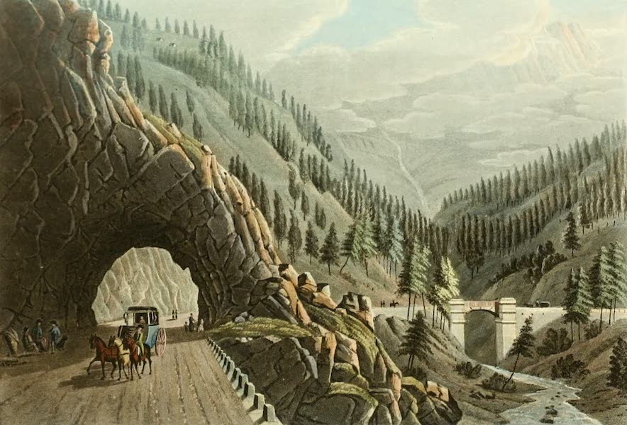 Picturesque Tour from Geneva to Milan - View of the Gallery and Bridge of the Ganther (1820)