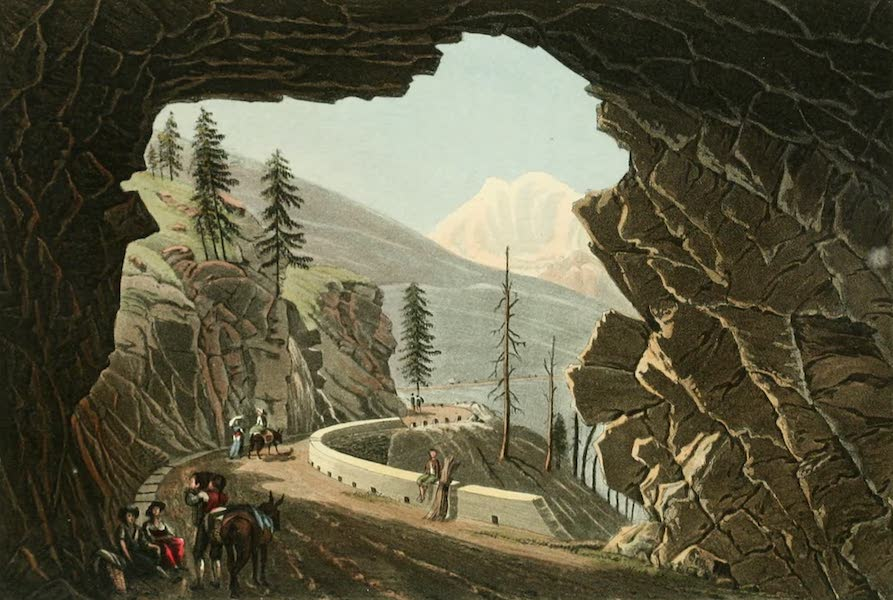 Picturesque Tour from Geneva to Milan - View from the Entrance of the Gallery of Schalbet (1820)