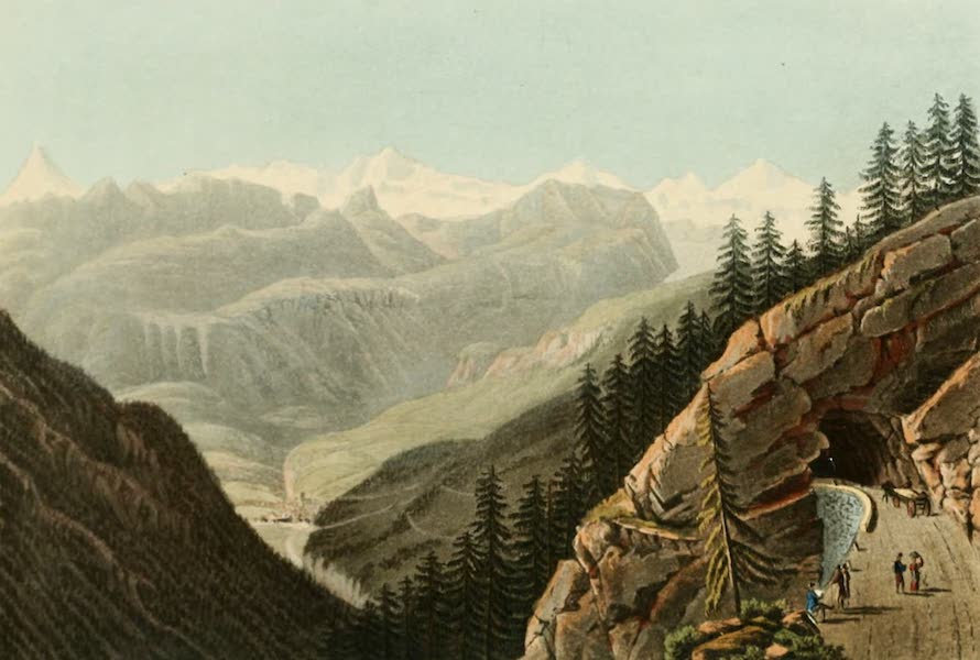 Picturesque Tour from Geneva to Milan - View of the Gallery of Schalbet from the Italian Side (1820)
