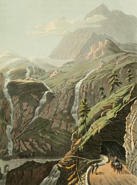Picturesque Tour from Geneva to Milan - View of the Gallery of the Glaciers (1820)