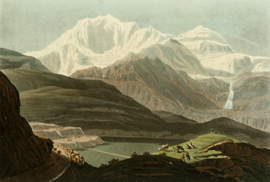 Picturesque Tour from Geneva to Milan - View of the site of the Monastery of the Simplon and of Mount Rosa (1820)
