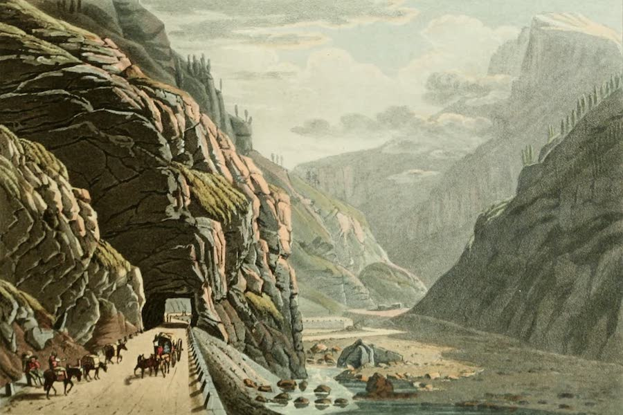 Picturesque Tour from Geneva to Milan - View of the Exterior of the Gallery of Algaby (1820)