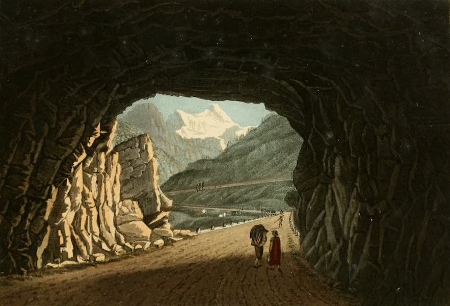 Picturesque Tour from Geneva to Milan - View of the Interior of the Gallery of Algaby (1820)