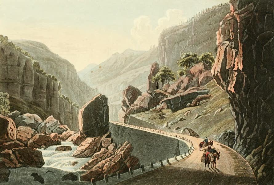 Picturesque Tour from Geneva to Milan - Entrance of the Valley of Dovedo (1820)