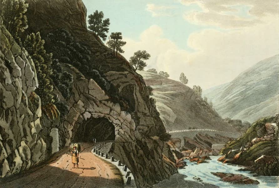 Picturesque Tour from Geneva to Milan - View of the Entrance of the Last Gallery (1820)