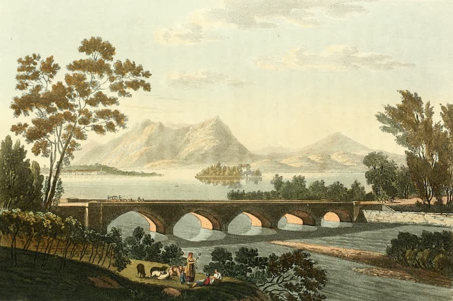 Picturesque Tour from Geneva to Milan - View of the Bridge of Baveno and of the Madre Islands (1820)